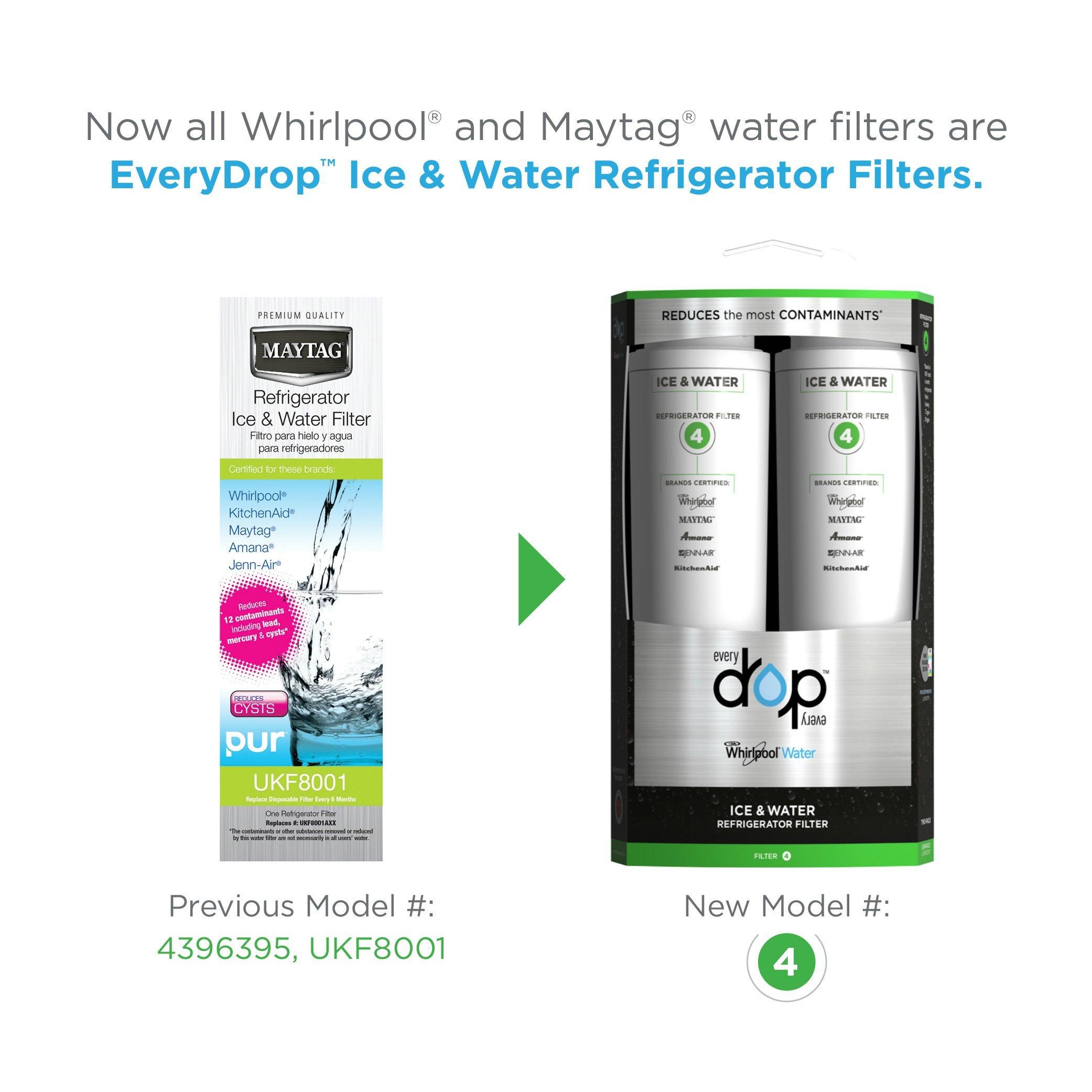 EveryDrop by Whirlpool Refrigerator Water Filter 4 (Pack of 2) by EveryDrop by Whirlpool (Image #2)