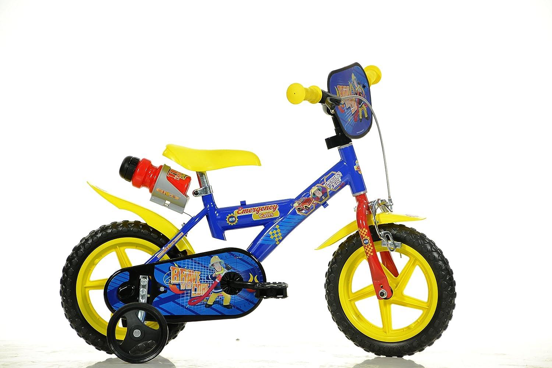 Feuerwehrmann Sam Kinderfahrrad Fireman Sam Jungenfahrrad – 12 Zoll   TÜV geprüft   Original Lizenz   Kinderrad mit Stützrädern - Das Fahrrad aus Fireman Sam als Geschenk für Jungen