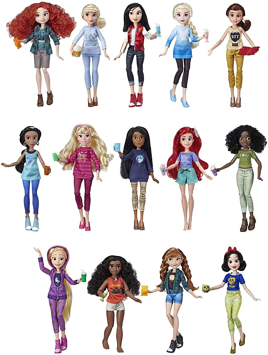 Amazon Com Disney Princess Ralph Breaks The Internet Movie Dolls With Comfy Clothes Accessories 14 Doll Ultimate Multipack Amazon Exclusive Toys Games