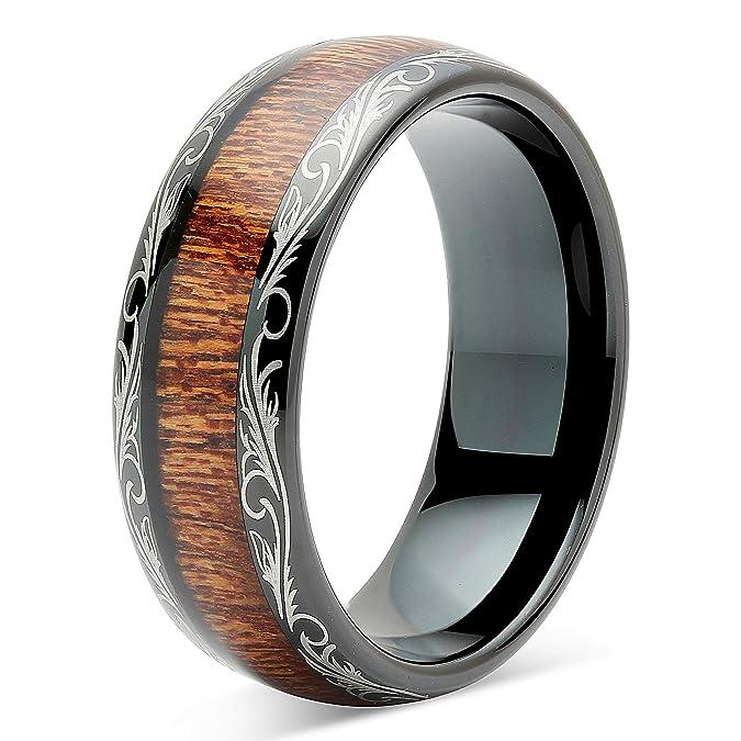 Impartial Titanium Black Rubber Flat 8mm Brushed Wedding Ring Band Size 6.50 Type Of Engagement & Wedding