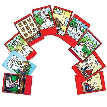 Huge Christmas Card.Santa Yoga Christmas Joke Card 10 Assorted Christmas Cards A5557xsg B1x10