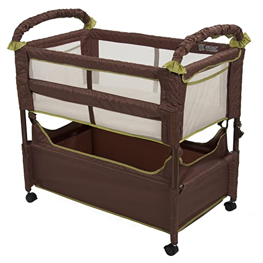 4. Arm's Reach Concepts Clear-Vue Co-Sleeper, Cocoa/Fern - My Mom's best