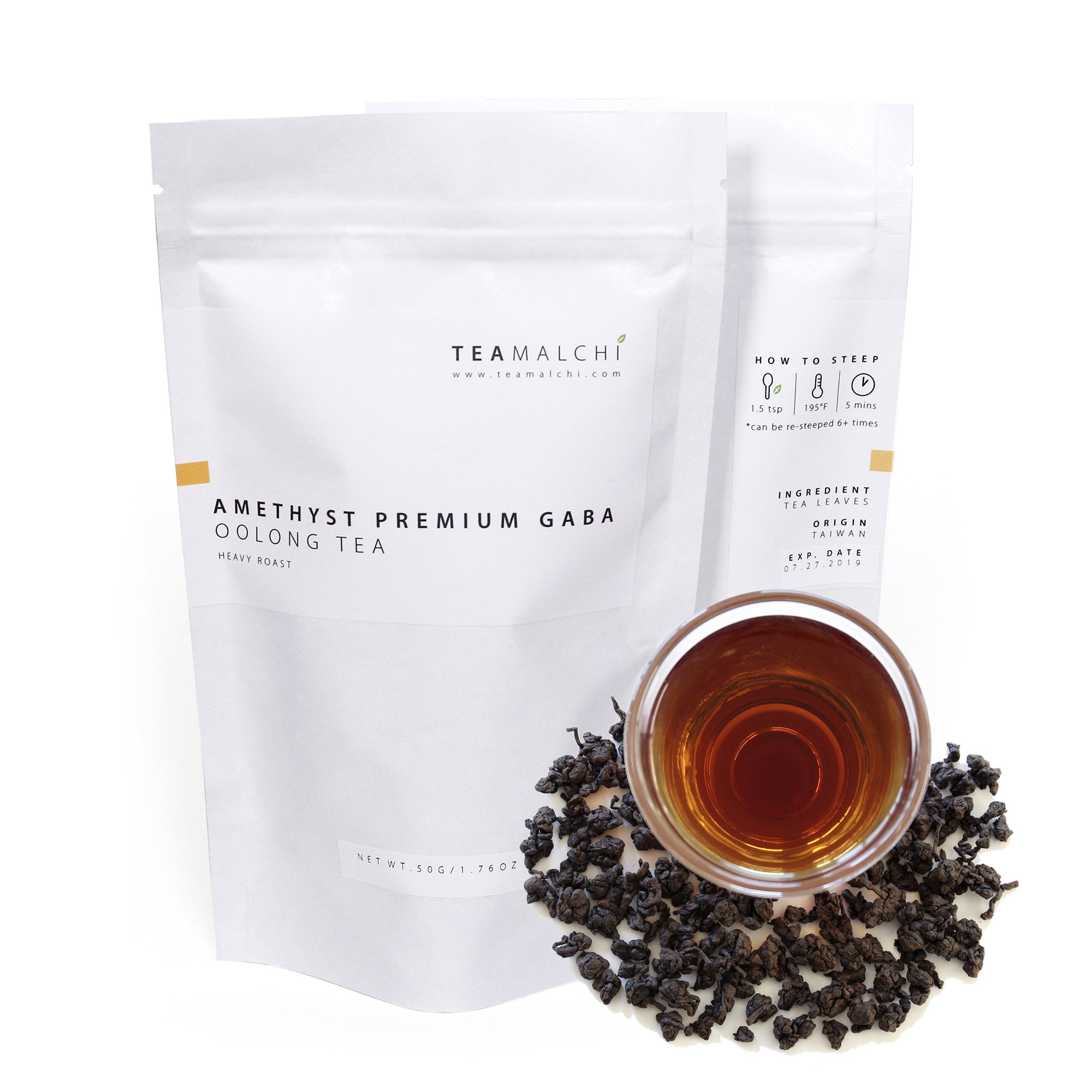 Premium Natural Taiwan High Mountain Amethyst GABA Loose Leaf Oolong Tea, 50g/1.76 oz