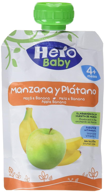 Hero Baby Bolsita Fruta Manzana Plátano - 100 gr - [Pack de 18]: Amazon.es: Alimentación y bebidas