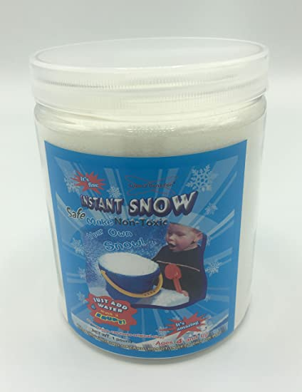 Add Water Will Makes 8 Gallons of Faux Fluffy Snow 1 Pound Instant Snow Powder