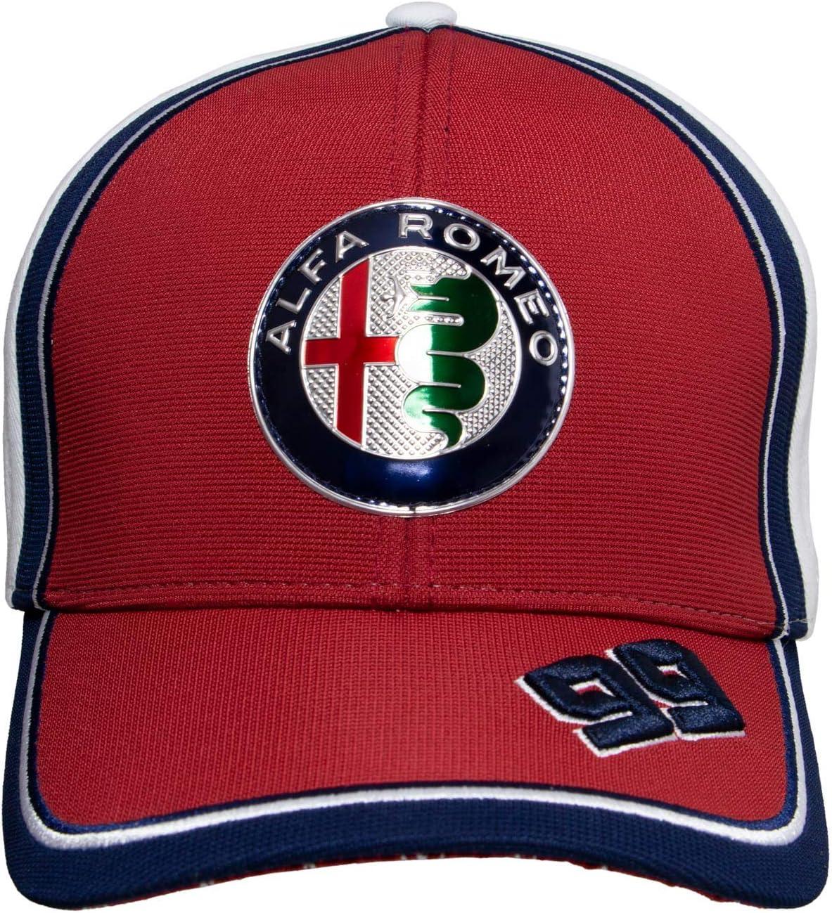 Alfa Romeo Racing Gorra de b/éisbol Curvada Team Antonio Giovinazzi
