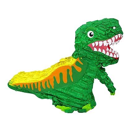 Amazon.com: Piñata de dinosaurio verde para cumpleaños ...