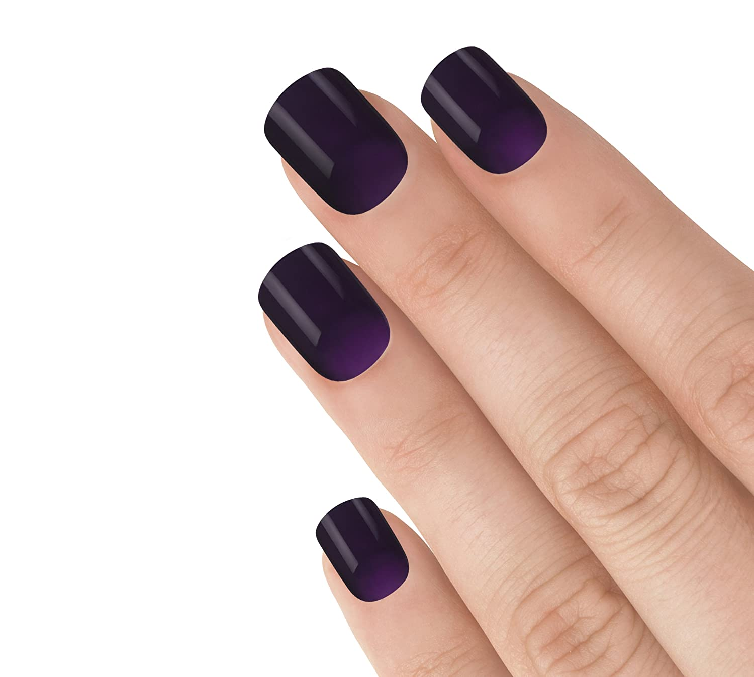 Elegant Touch Express - Manicura en 3 minutos, uñas postizas, color morado: Amazon.es: Belleza