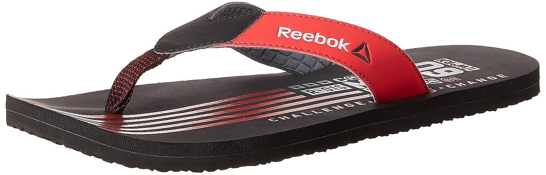 Reebok Men's Adventure Flip Black and Red Rush Flip-Flops and House Slippers - 8 UK/India (42 EU)(9 US) IutT6vqQDt