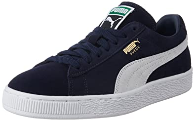 info for 694b3 f7f21 PUMA Suede Classic, Unisex Adults Low-Top Trainers, Blue (Peacoat/White  51), 4.5 UK (37.5 EU)