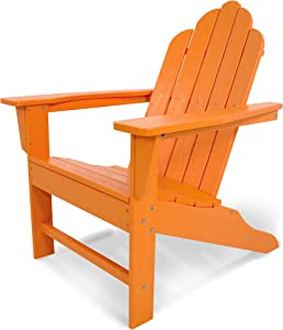 POLYWOOD ECA15TA Long Island Adirondack Chair, Tangerine