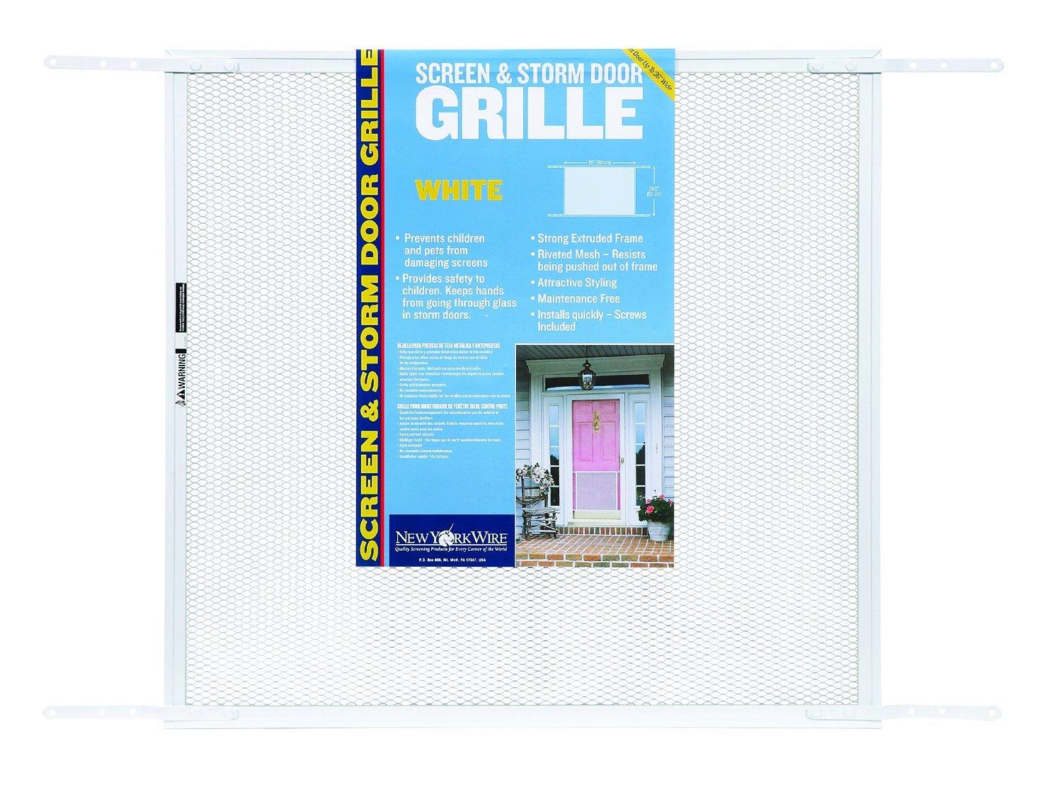 ADFORS Screen & Storm Door Grille, 24'' x 26'' x 34'', White
