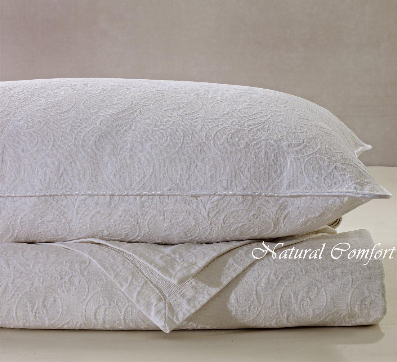 Queen Foliage//Water Blue Natural Comfort Matelass/é Blanket Coverlet