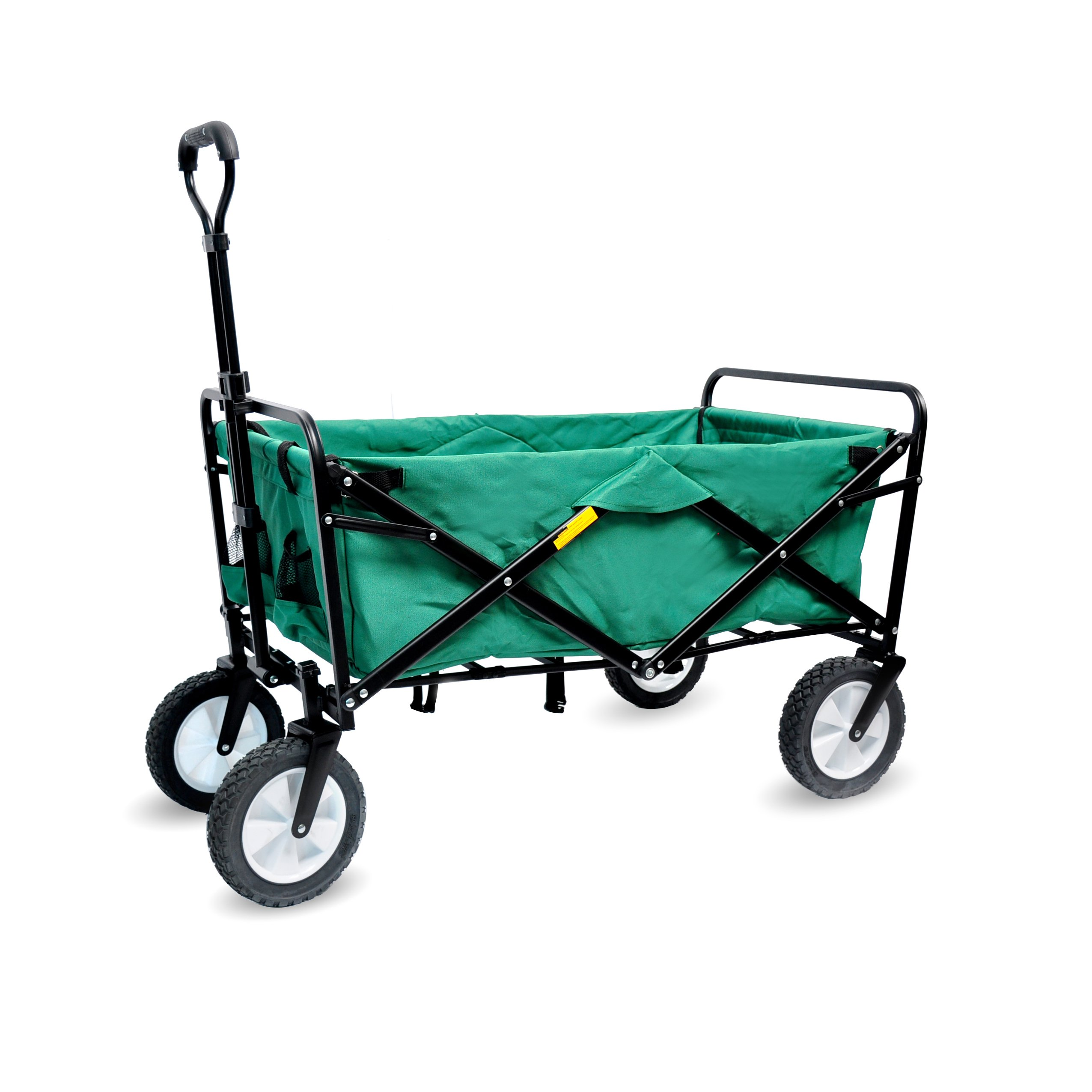 WHITSUNDAY Collapsible Folding Garden Outdoor Park Utility 30'' Picnic Wagon 1 Year Warranty (Amazon Green) by WHITSUNDAY