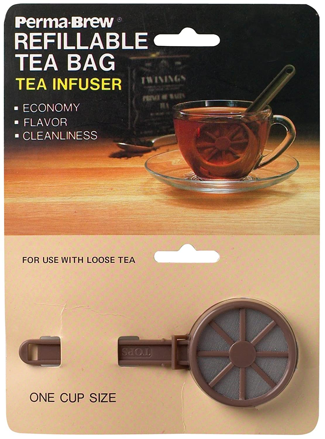 Tops 55719 Perma-Brew Tea Infuser, Plastic, Full Pot Size Harold Import Company Inc. 2188
