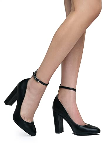 084419dfe736 Emery Ankle Strap Block High Heel