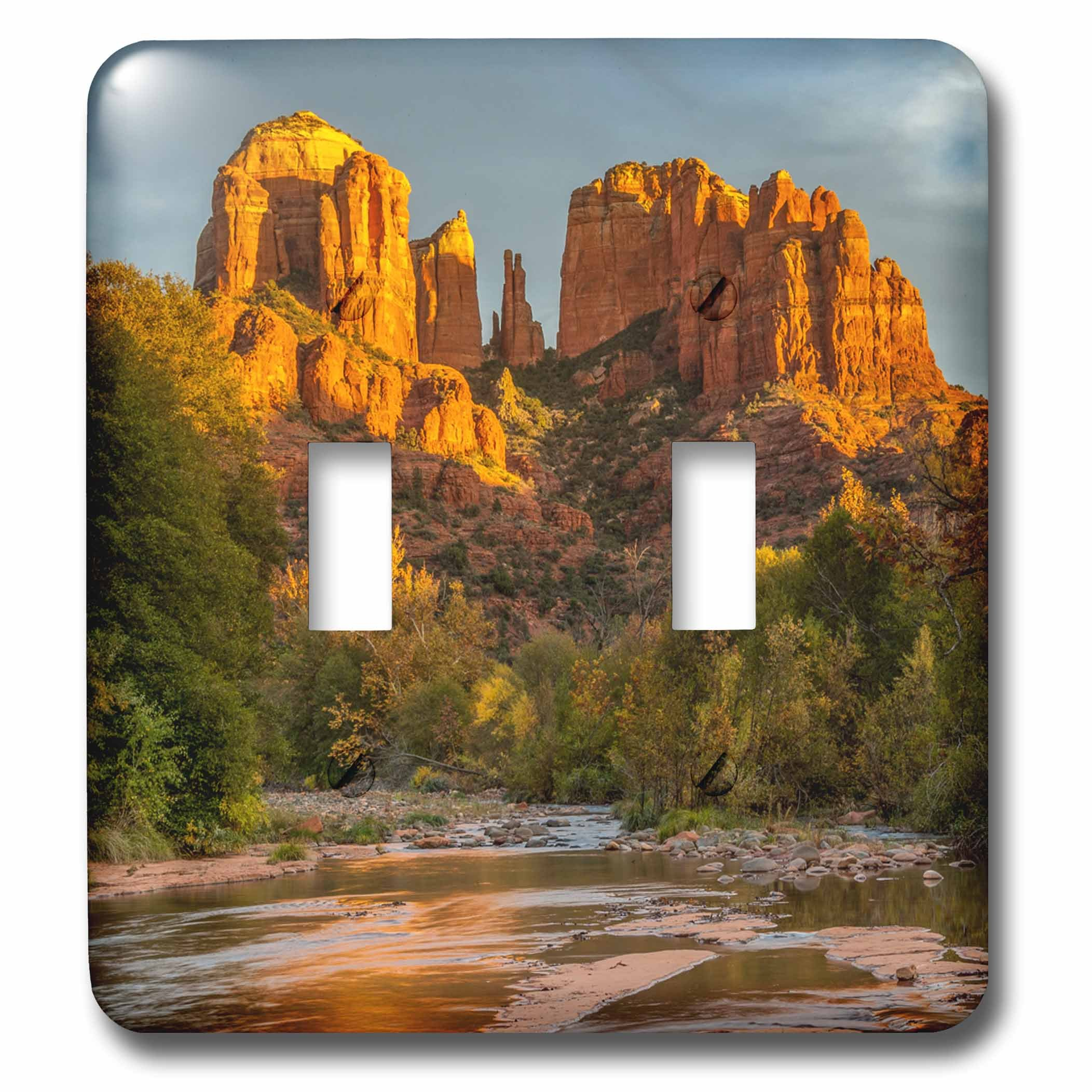 3dRose Danita Delimont - Deserts - USA, Arizona, Sedona, Cathedral Rock - Light Switch Covers - double toggle switch (lsp_278451_2) by 3dRose