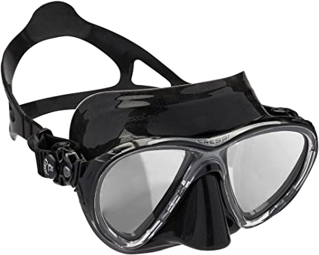 Cressi Big Eyes Evolution - Gafas de buceo unisex, color negro / espejo