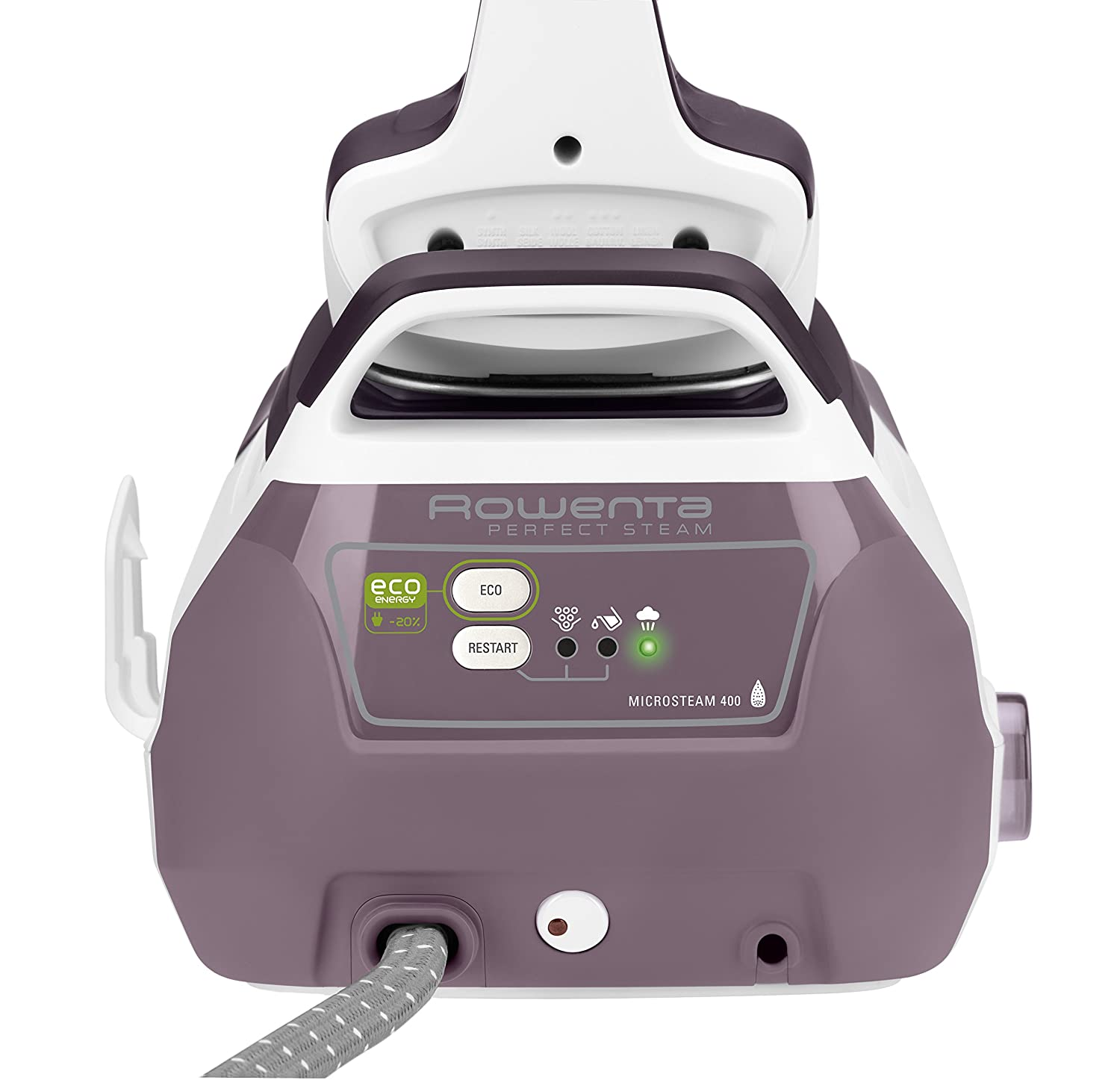 Cleaning rowenta pressure iron and steamer - Amazon Com Rowenta Dg8520 Perfect Steam 1800 Watt Eco Energy Steam Iron Station Stainless Steel Soleplate 400 Hole Purple Home Kitchen