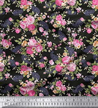 2a7bed20615e Soimoi Cotton Blumen   Paisley-Druck Schneiderei Stoff 58 Zoll breit durch  das Messgerä
