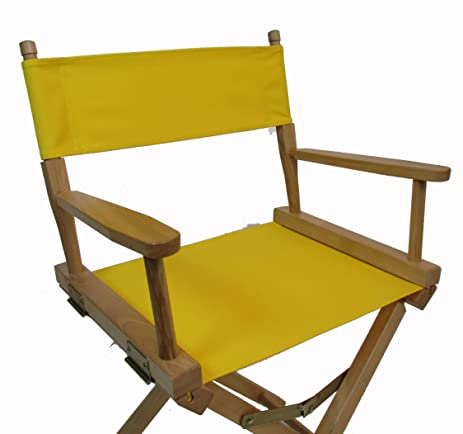 Replacement Cover Canvas For Directoru0027s Chair (Flat Stick) (Yellow)