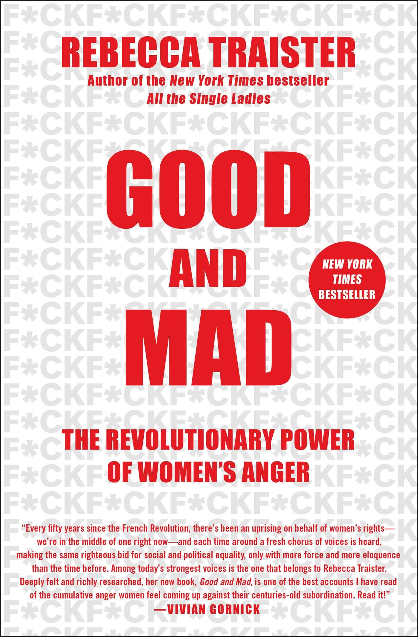 Image result for Good and Mad: The Revolutionary Power of Women's Anger