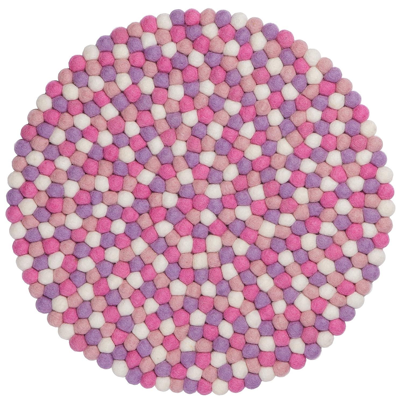 myfelt feltro palle di sedile/Sedia, rotondo, lana vergine, Rosa, Ø 36cm A-SA-024-036