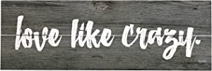 """Rustic Pallet Art Love Like Crazy 18"""" x 6"""" Wood Pallet Design Wall Art Sign - Hand Made by Amish"""