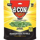 d-CON Refillable Corner Fit Mouse Poison Bait Station, 1 Trap + 18 Bait Refills