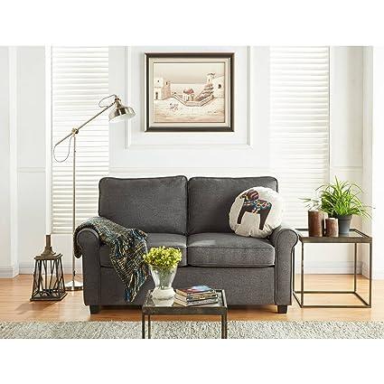 Mainstays Sofa Sleeper With Memory Foam Mattress | No Tool Easy Assembly  (Grey)