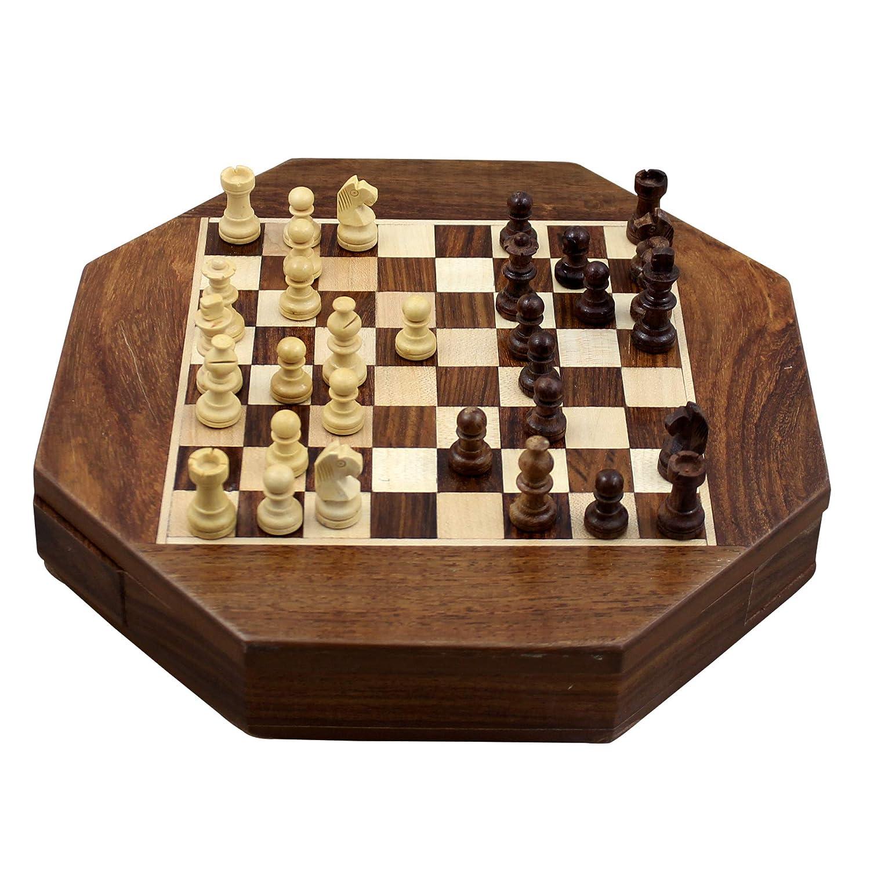 artículos de promoción Ajedrez magnético del Octangle forma pedazos de de de tablero de madera y Set viaje juegos 22,5 Cm  venderse como panqueques