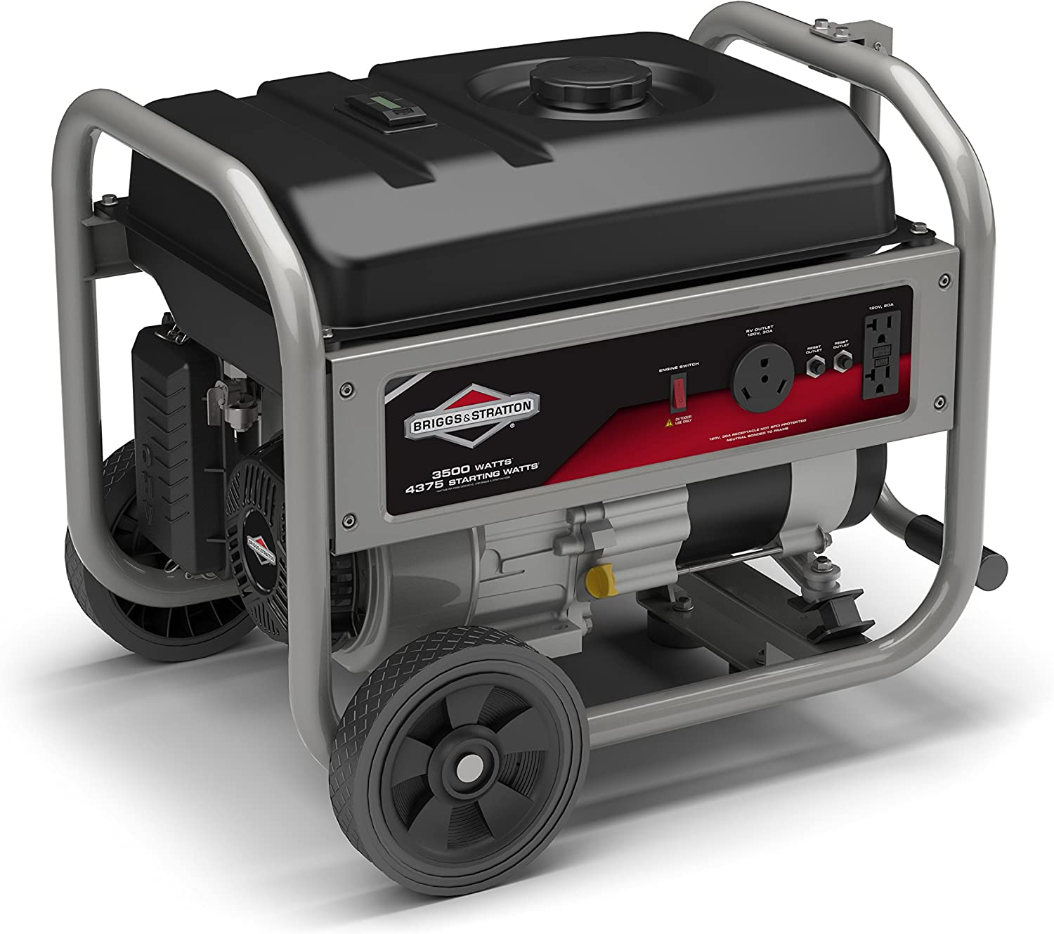 Briggs Stratton 30680 3500 Running Watts 4375 Starting Watts 208cc Gas Powered Portable Generator with RV Outlet