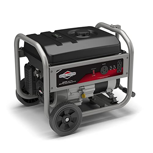 Briggs Stratton 30680 Portable Generator with RV Outlet, 4375 Starting Watts 3500 Running Watts, CARB Compliant