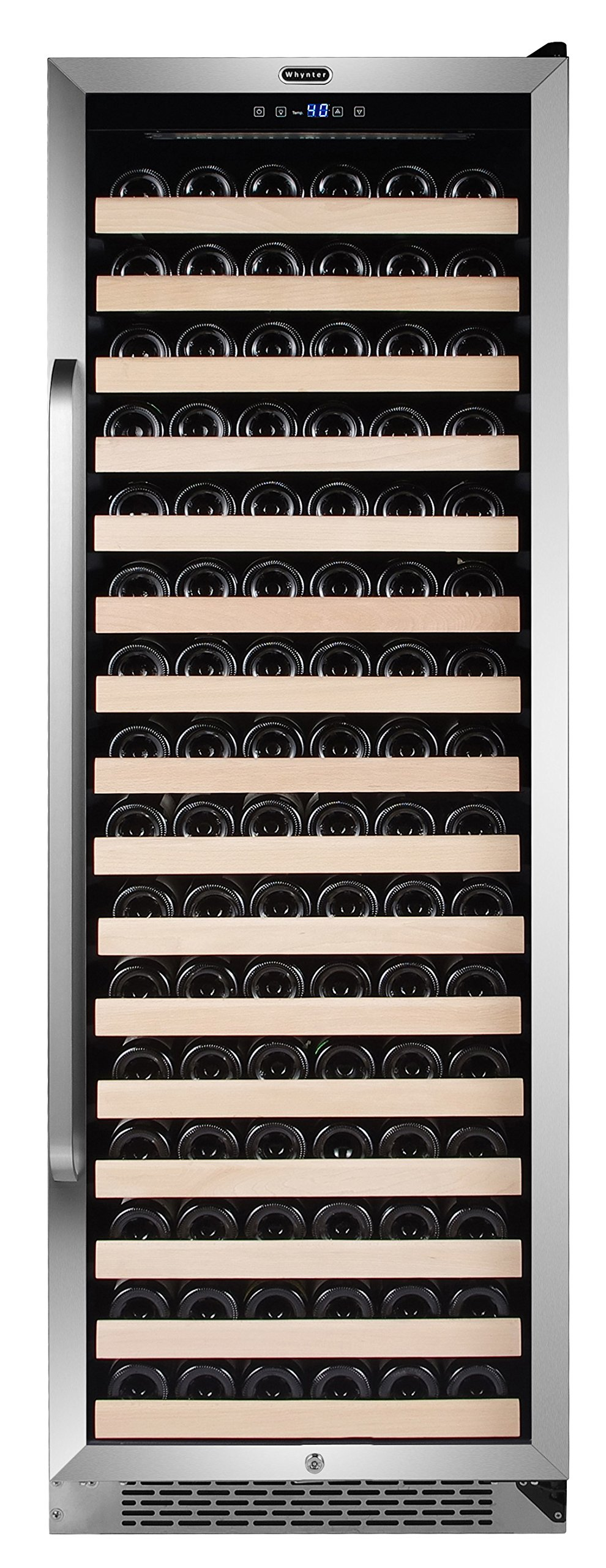 Whynter Stainless Steel BWR-1662SD 166 Bottle Built-in Compressor Wine Refrigerator Rack and LED display, One Size by Whynter