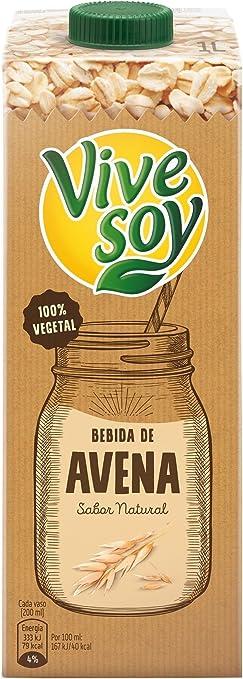 Vivesoy - Bebida de avena - 1 L - , Pack de 6: Amazon.es ...