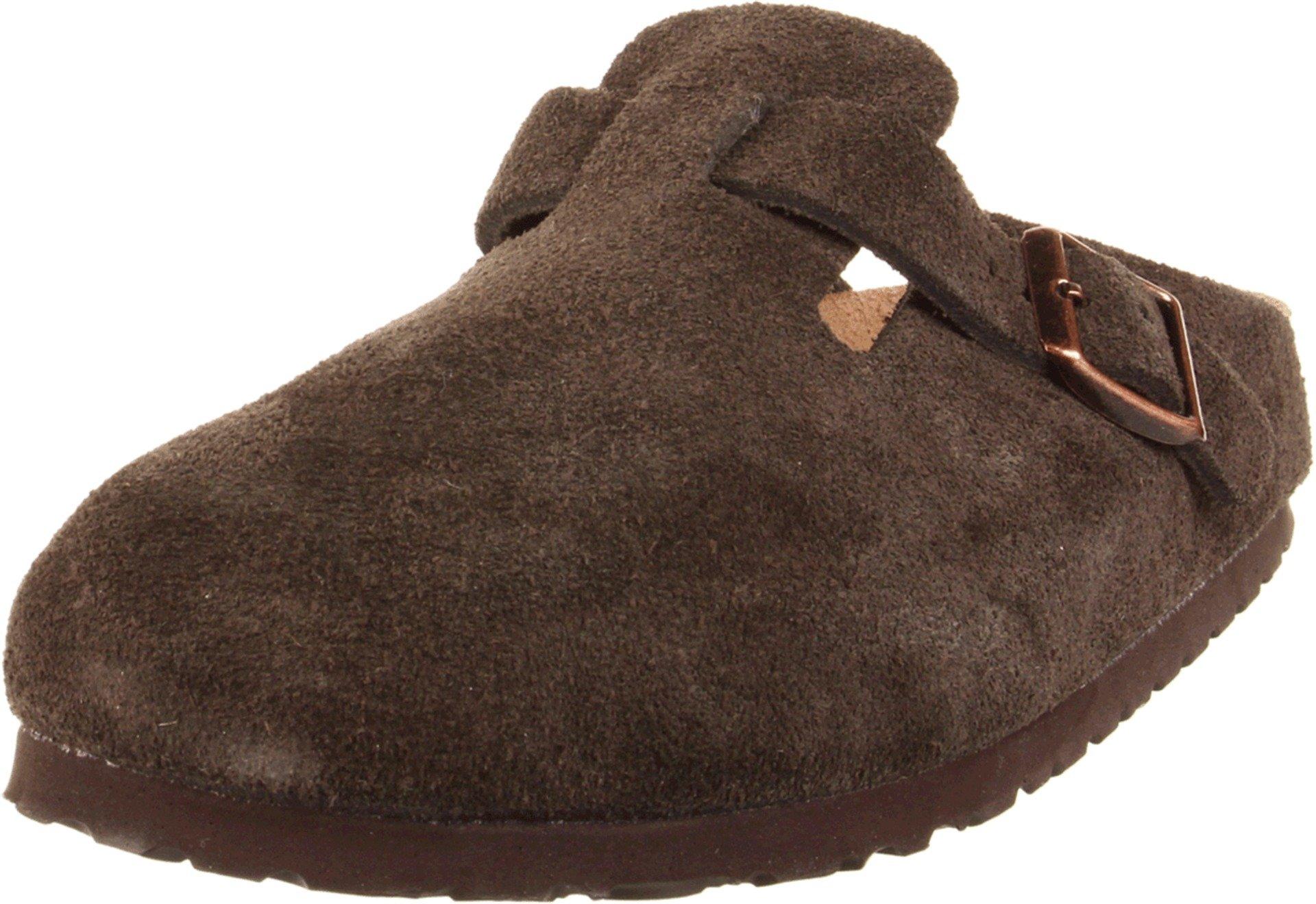 Birkenstock Unisex Boston Soft Footbed, Mocha Suede, 40 N EU