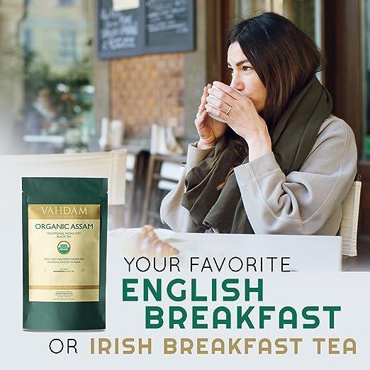 Malty Assam tea with a dark reddish brown color has a fresh flavor.