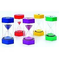 FLIXI Maxi SANDUHREN 5er Set mit unterschiedlichen Laufzeiten in TOP QUALITÄT - 1 min, 3 min, 5 min, 10 min, 15 min