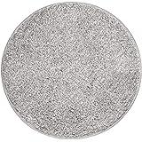 mDesign Soft Microfiber Polyester Non-Slip Round Spa Mat/Runner, Plush Water Absorbent Accent Rug for Bathroom Vanity, Bathtu