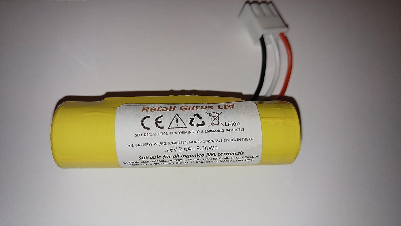 Retail Gurus Ingenico IWL220, IWL221, IWL222, IWL250, IWL251, IWL252 Li-ion Battery Compatible