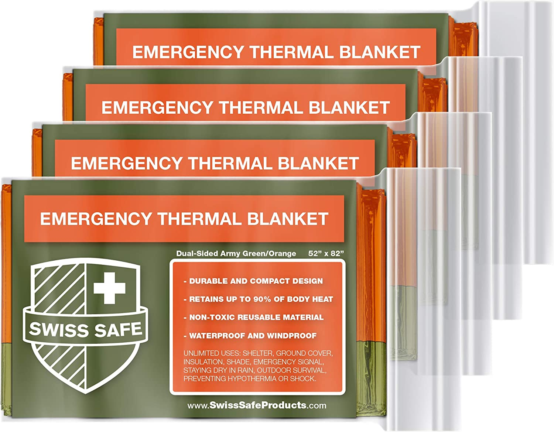 Emergency Mylar Thermal Blankets Bonus Signature Gold Foil Space Blanket
