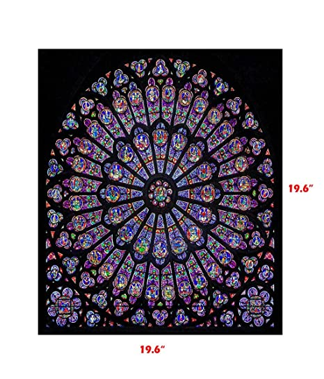Vaycally Wall Art Print, Rose Window de Dame Cathedral Paris ...