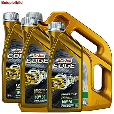Pintura al óleo Castrol Edge 10 W de 60 7L: Amazon.es: Coche y moto