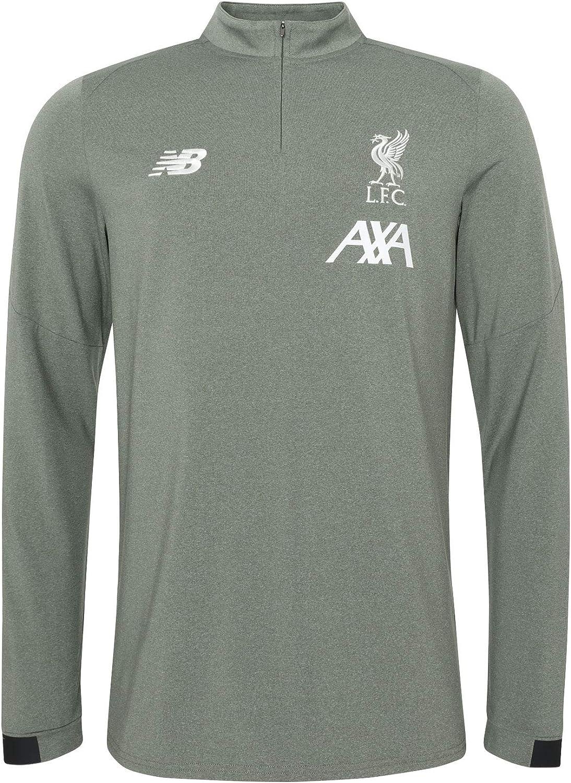 Liverpool FC Mens NB Khaki On Pitch Long Sleeve Midlayer Shirt 19//20 LFC Official