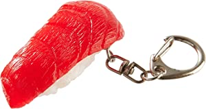 flavorbox(フレーバーボックス) Sushi Keychain (1 Pack: Tuna) Realistic, Food replicas/for Bags, Keys or Pouches/A Gift for People who Like Sushi and Novelty/Japanese Culture/Japan-Made/ 20 Kinds