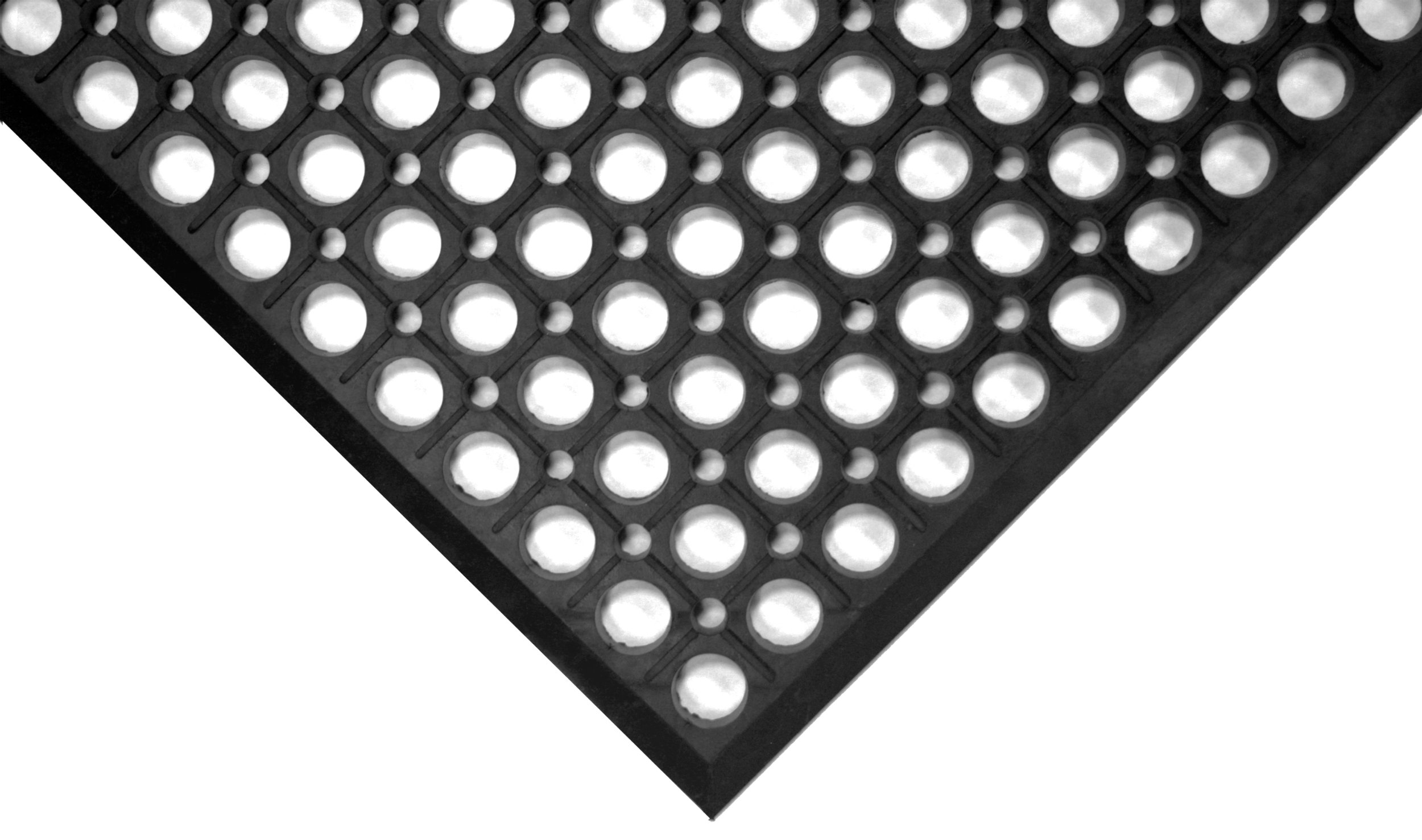 Wearwell 474.12x3x5BK WorkRite Beveled Mat, Black, 1/2-Inch by 3-Feet by 5-Feet