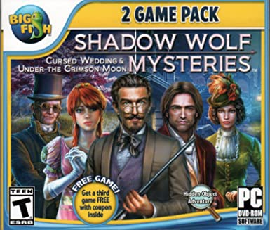 Shadow Wolf Mysteries UNDER THE CRIMSON MOON + CURSED WEDDING Hidden Object  PC Game