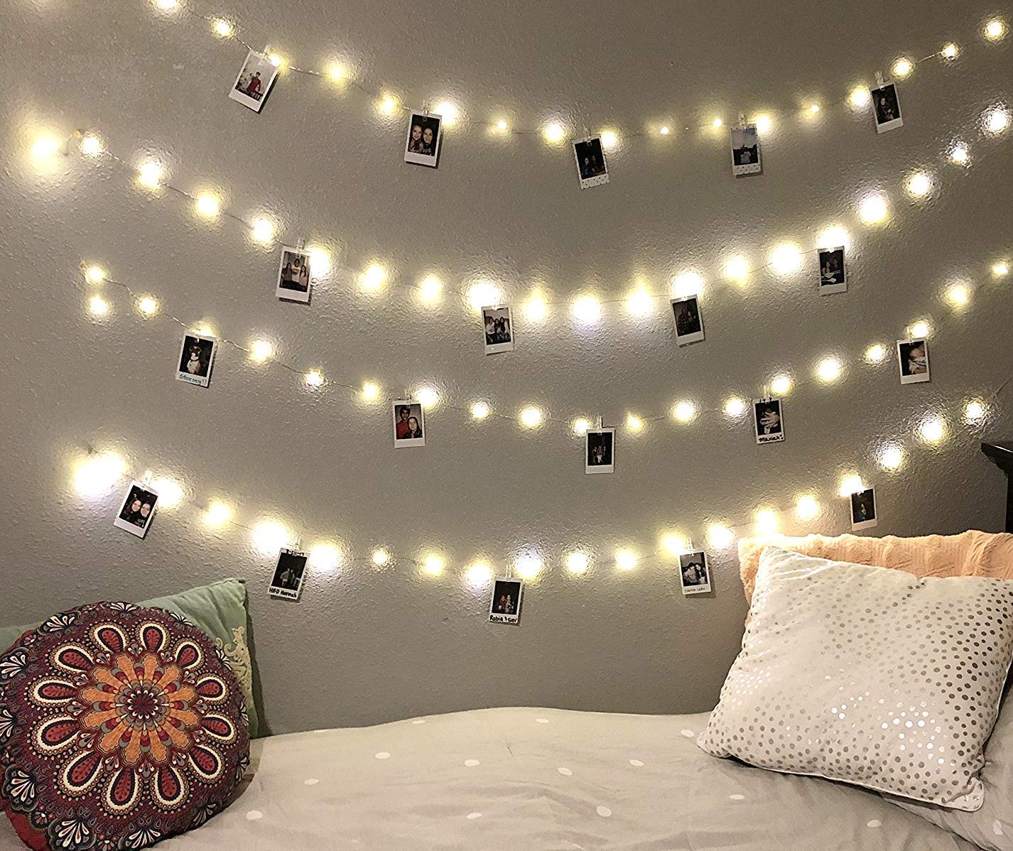 EZDC 20 LED Photo Clip String Lights, Bedroom Fairy Lights with Clips for Dorm Room or Bedroom Decoration to Hang Cards, Polaroids & Pictures
