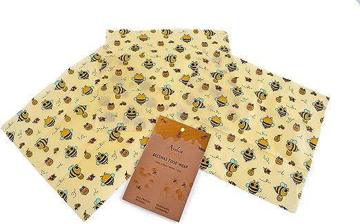 Archie Living Juego de 3 envoltorios de cera de abeja (33 x 35 cm ...