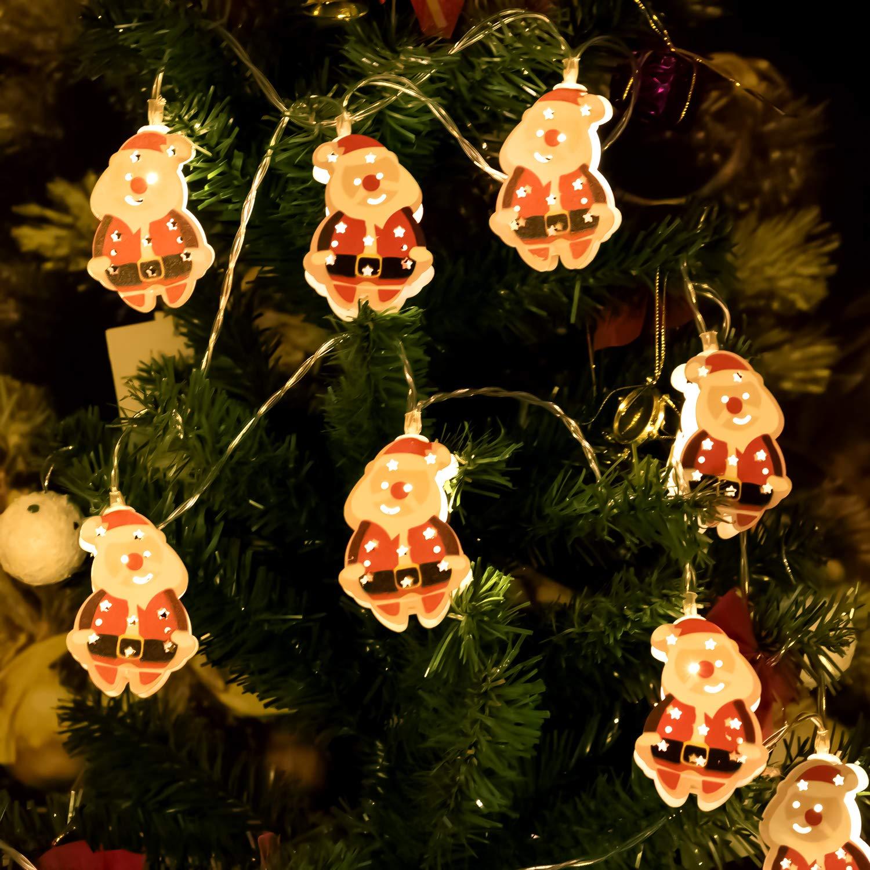 Hensun LED String Lights 6 6feet 10 LED Warm White Christmas Light